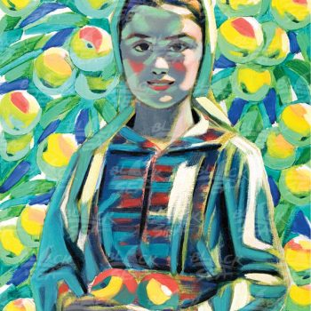 A Maiden with Apples